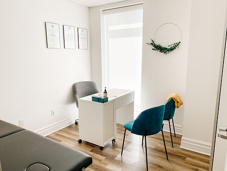 bright practioner room with natural lighting
