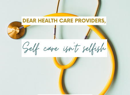 Self Care for Health Care Providers