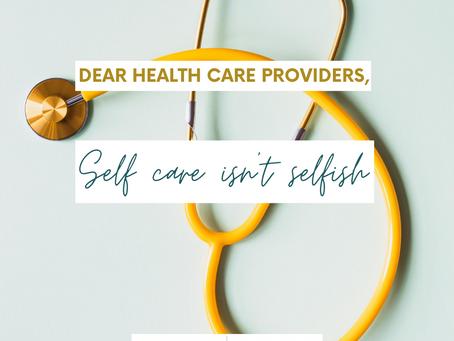 Self Care for Health Care Providers