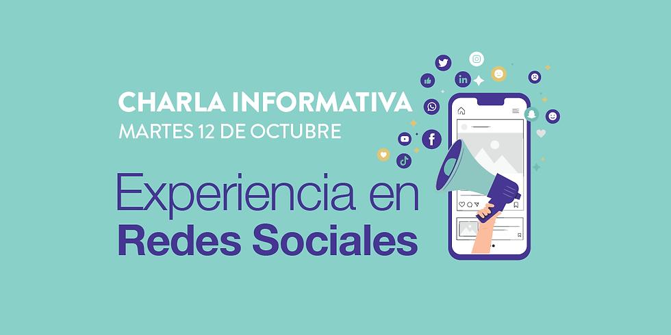 Charla informativa - Experiencia en Redes Sociales
