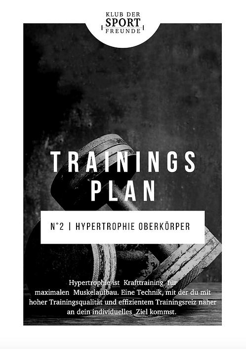 Hypertrophie Oberkörper Dominant 2 | Trainingsplan