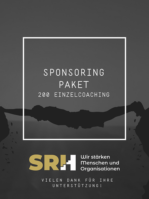 50% Sponsoring von 200 Einzelcoaching-Stunden