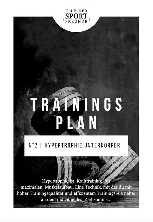 Hypertrophie Unterkörper Dominant 2 | Trainingsplan