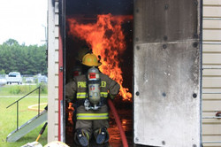 Just another day putting out fires, OK this one was training