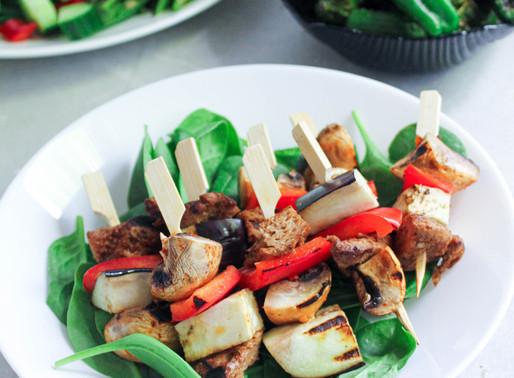 Grilled vegetables sticks