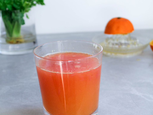 Fresh orange-grapefruit juice