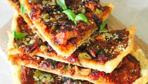 Jackfruit pizza