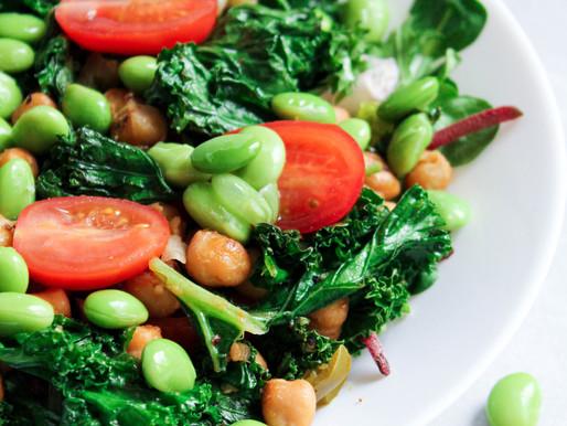Edamame-kikerherne salat