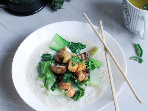 Pak choi coconut milk soup