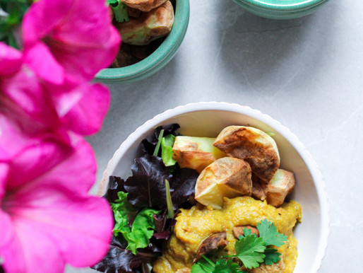 Köögiviljakarri krõbedate kartulitega