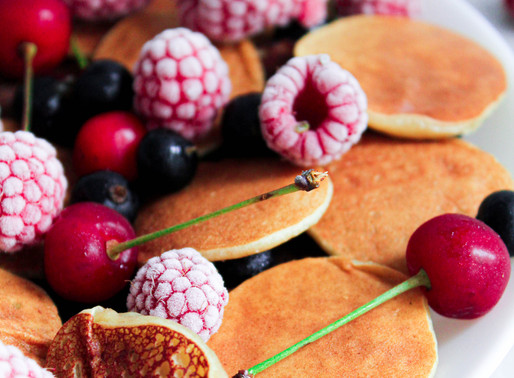 Mini bean pancakes