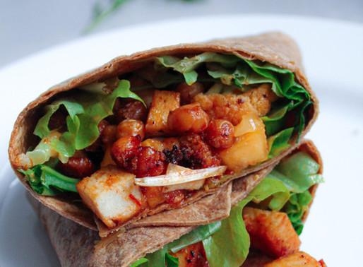 Wrap with crispy tofu