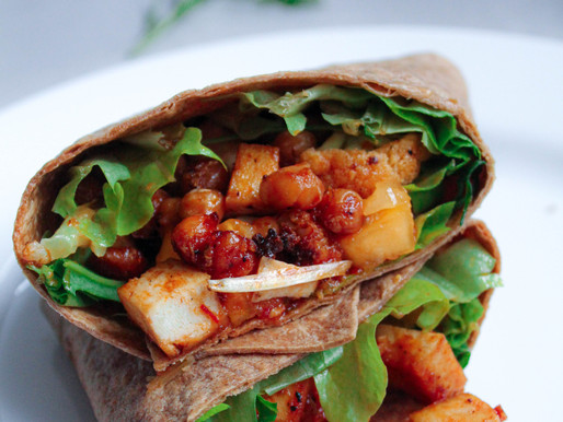 Wrap with crispy tofu