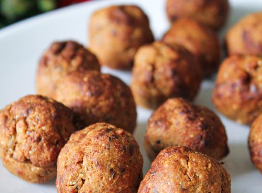 Almond shiitake balls
