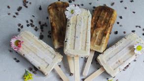 Homemade coconut ice creams