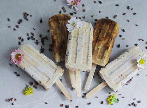 Homemade coconut ice creams