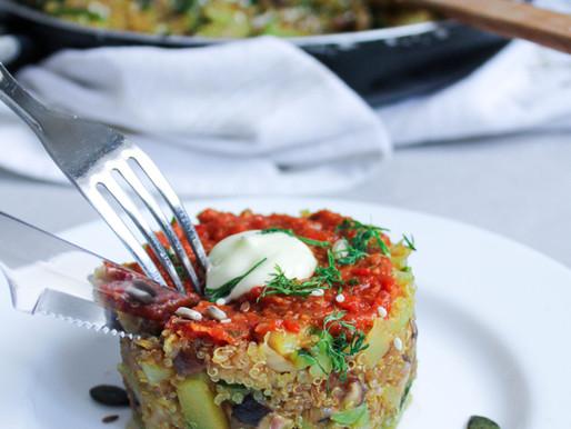 Quinoa pan dish