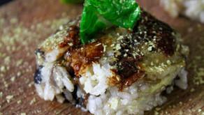 Rice balls with mushrooms