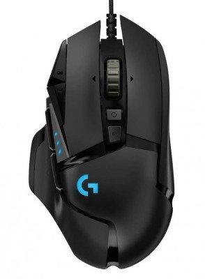 Mouse alámbrico LOGITECH G502 HERO, Negro, 11, Alámbrico, Óptico, 16000 DPI