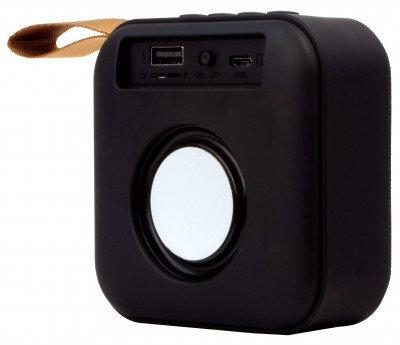 Bocina Bluetooth Portatil Stylos Cuadrada, 2.0, 3 W, Negro