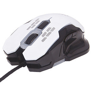 MOUSE RATON GAMING OPTICO USB 6 BOTONES 2400 DPI AJUSTABLE BLANCO