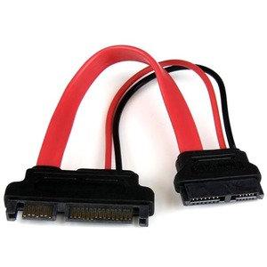 Adaptador Cable SATA 15cm Slimline Línea Delgada a SATA con Alimentación Corrien