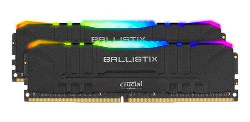 MEM DDR4 BALLISTIX 2X8GB 3000MHZ BLACK CL16