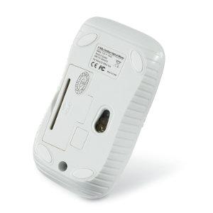 MOUSE VERBATIM OPTICO INALAMBRICO USB ERGONOMICO P/ZURDOS/DIESTROS COLOR BLANCO