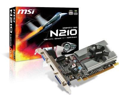 Tarjeta de Video MSI N210-MD1G/D3, NVIDIA, GPU 210, GDDR3-SDRAM, 64 bit