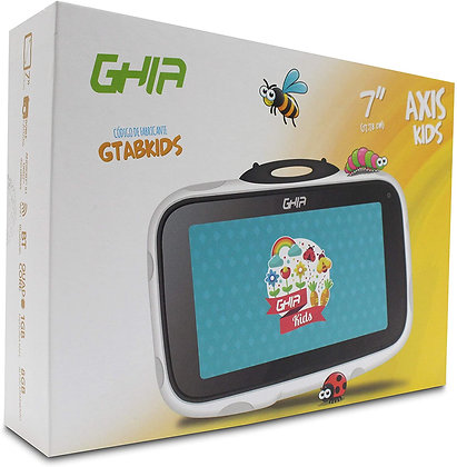 TABLET GHIA KIDS 7 GTABKIDSB/QU AD CORE/1GB/8GB/2CAM/WIFI/BLUETOOTH