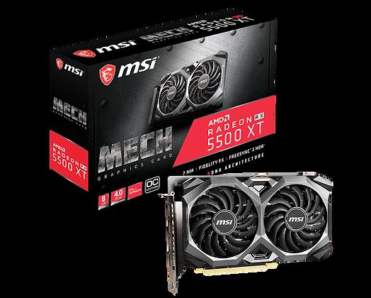 GPU MSI RADEON RX 5500 XT MECH 8G OC 8GB GDDR6
