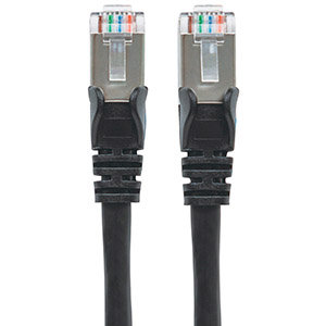 CABLE DE RED PATCH CAT6A RJ45 0.90M SFTP BLINDADO NEGRO