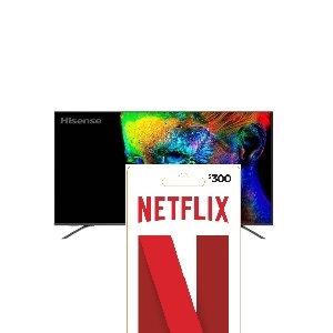 """TV LED 65"""" HISENSE SMART 4K + 1 TARJETA NETFLIX 300 MXP REGALO"""