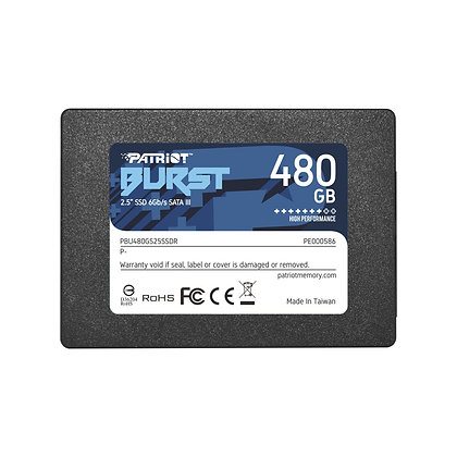 SSD PATRIOT BURST 480GB SATA III 2.5""