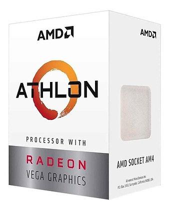 PROCESADOR AMD ATHLON 200GE S-AM4 35W 3.2 GHZ CACHE 4 MB 2CPU CORES / GRAFICOS R