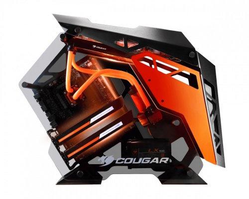 Gabinete Cougar Conquer ATX black/orange