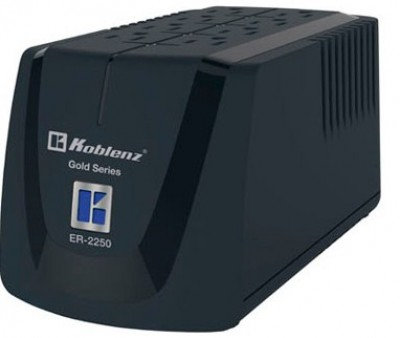 Regulador KOBLENZ ER-2250, 8, Negro, Hogar y Oficina, 2250 VA, 1000 W