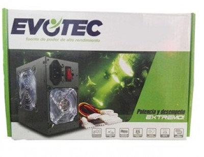 Fuente de Poder EVOTEC PSUEV1, Negro, 600 W, PC