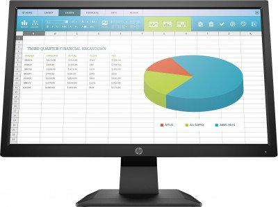 Monitor HP P204V, 20 pulgadas, 250 cd / m², 1600 x 800 Pixeles, 5 ms, Negro