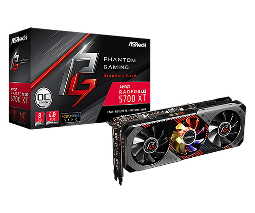 GPU ASROCK RX 5700XT PHANTOM GAM D 8G OC 8GB,DDR6
