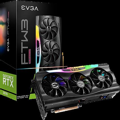 Tarjeta de Video Nvidia GeForce RTX 3070 8GB / EVGA FTW3 ULTRA GAMING/ 08G-P5-37