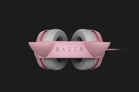 Razer Audífonos Gamer Kraken Kitty Edition, Alámbrico, 1.3 Metros, USB, Gris/Ros