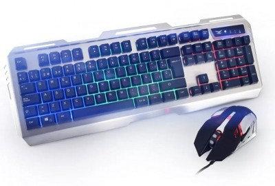 Kit de Teclado y Mouse Gaming Naceb Technology NA-0911, USB, Negro