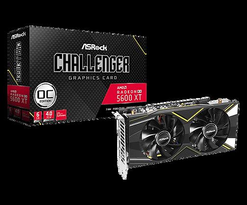 Tarjeta de video  ASROCK RX 5600XT CHALLENGER D 6G OC,6GB,GDDR6