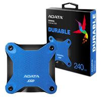 UNIDAD DE ESTADO SOLIDO SSD EXTERNO ADATA SD600Q 240GB USB 3.1 AZUL WINDOWS / MA