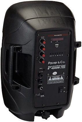 POWER GLOBAL BOCINA NEGRA 4,200 W BLUETOOTH/SD/USB/AUX IN/FM