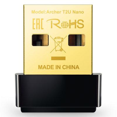 Adaptador de red USB 2.0 Tp-Link Archer T2U Nano AC600 WiFi 600Mbps 2.4GHz / 5GH