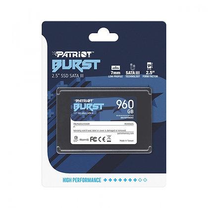 "SSD PATRIOT BURST 960GB SATA III 2.5"""