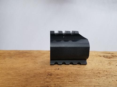 "Gas Block .750"" with Picatinny Rail  - Black"