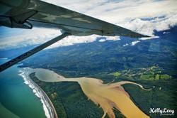 Aerial of coastal Costa Rica